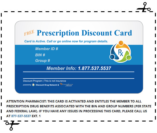 discount drug network offers a great free drug card that is available to everyone and easy to use this card will save you anywhere from 10 to 85 off of - Free Prescription Card