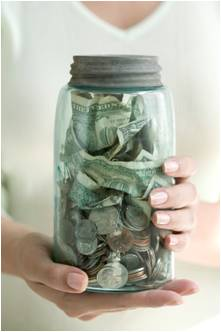 Saving Money Jar